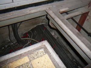 Oude kabels verwijderen